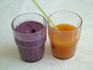 Smoothie og vitaminjuice