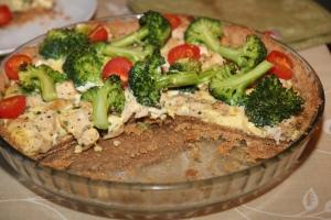 Speltpai med kylling og brokkoli
